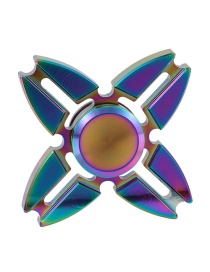 Fashion Multi-color Hollow Out Decorated Spinner