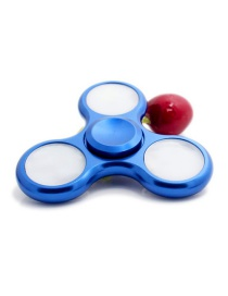 Fashion Blue Color-matching Decorated Spinner(with Light)