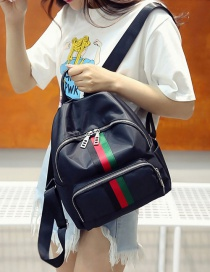 Fashion Red+green Letter Pattern Decorated Pure Color Backpack