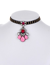 Fashion Multi-coloe Rivet Decorated Color Matching Choker
