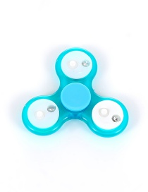 Trendy Blue Color Matching Decorated Flash Spinner