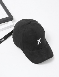 Fashion Black Embroidery Letter Pattern Decorated Baseball Cap