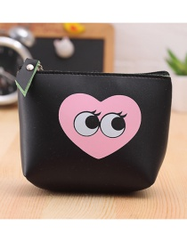 Lovely Pink Eyes Pattern Decorated Simple Wallet