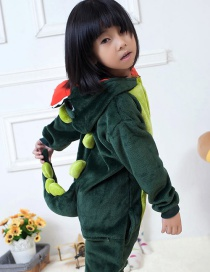 Fashion Green Dinosaur Shape Decorated Simple Chid Nightgown