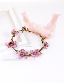 Fashion Purple Flower&bowknot Decorated Pure Color Simple Hair Ring