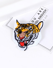 Fashion Yellow Embroidery Tiger Decorated Color Matching Brooch