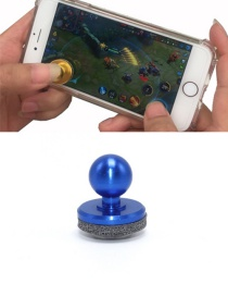 Fashion Sapphire Blue Ball Shape Decorated Pure Color Simple Joystick