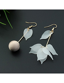 Fashion Pink Leaf&ball Shape Decorated Color Matching Simple Design Earrings