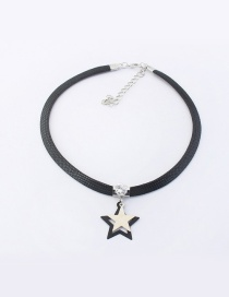 Elegant Silver Color Star Decorated Color Matching Simple Choker